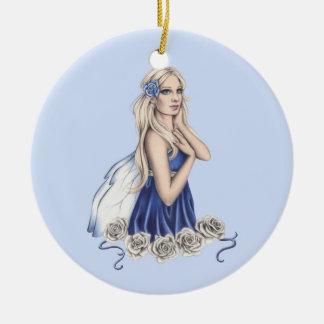 Winter Rose Fairy Ornament