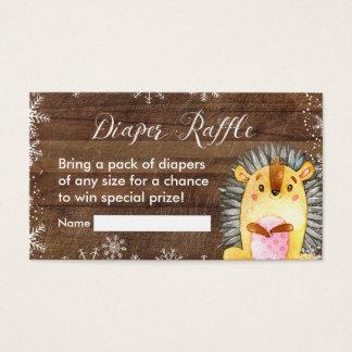 Winter Rustic Woodland - Diaper Raffle Card