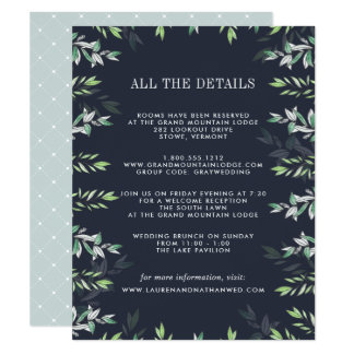 Winter Sage Guest Information Card