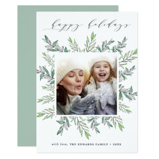 Winter Sage | Holiday Photo Card