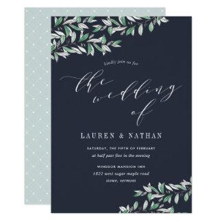 Winter Sage Wedding Invitation
