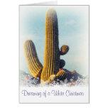 Winter Saguaro Holiday Greeting Card