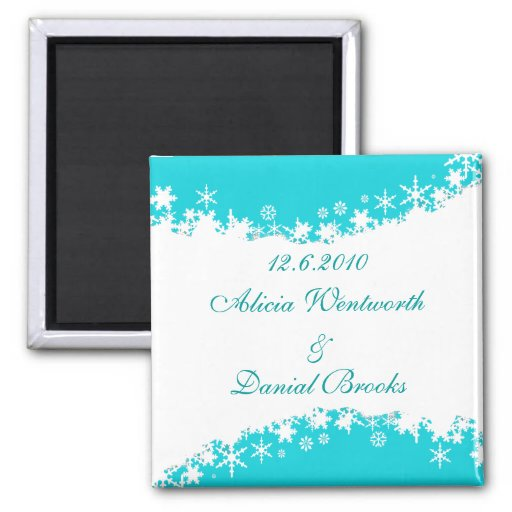 Winter Save the Date Magnet