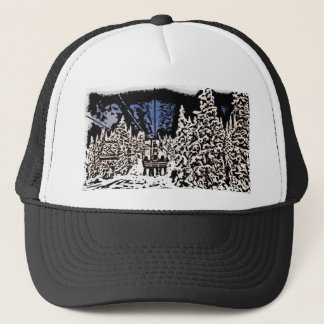 Winter scape deco hat