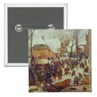 Winter Scene, 16th century 15 Cm Square Badge