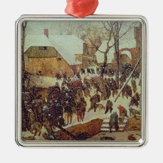 Winter Scene, 16th century Christmas Ornament