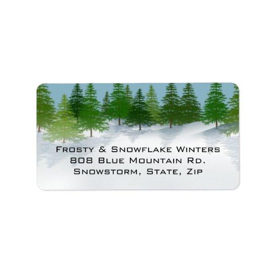 Winter scene address labels