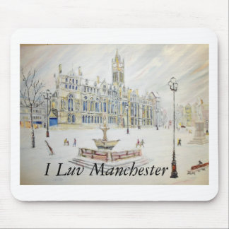 Winter scene at Albert Square Mouse Mat