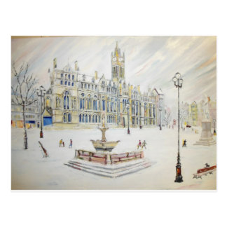 Winter scene at Albert Square Postcard