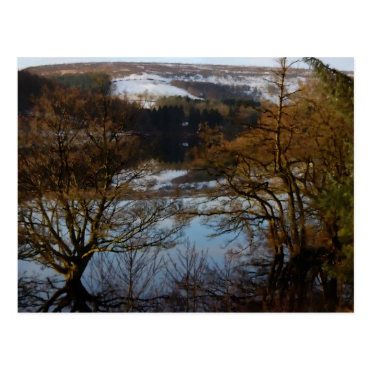Winter Scene at Derwent Reservoir Postcard
