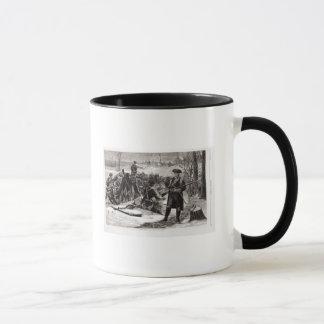 Winter Scene at the Continental Army Encampment Mug
