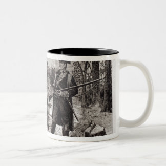 Winter Scene at the Continental Army Encampment Two-Tone Mug