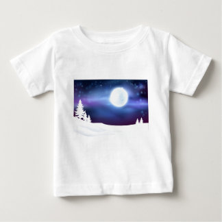 Winter Scene Background Baby T-Shirt