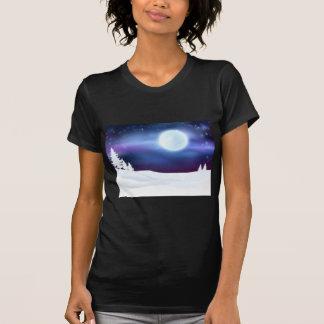 Winter Scene Background T-Shirt