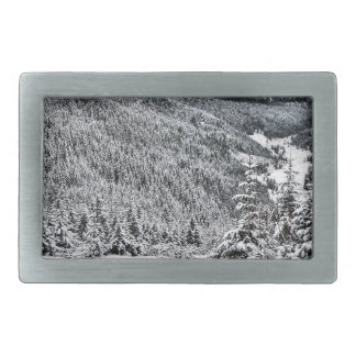 Winter scene belt buckles