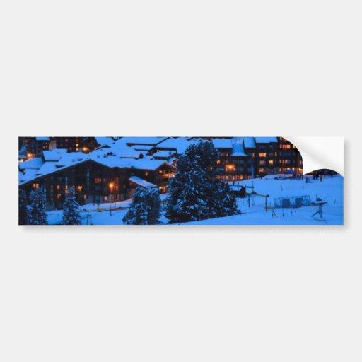 Winter Scene Bumper Sticker