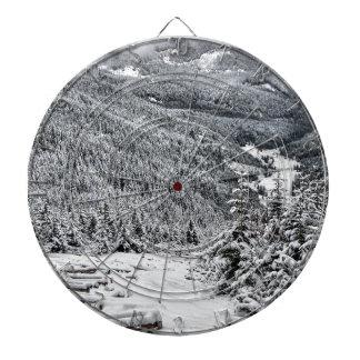 Winter scene dartboard