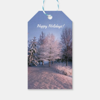 Winter Scene Holiday Gift Tags