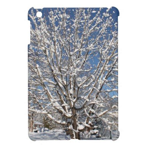 winter scene iPad mini case