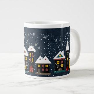 Winter scene jumbo soup mug jumbo mug