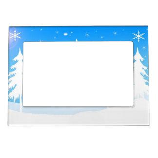 Winter Scene Magnetic Picture Frame