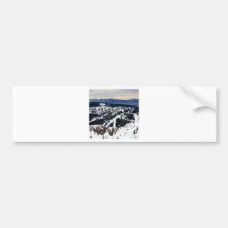 Winter Scene Mountain Peaks Bumper Stickers