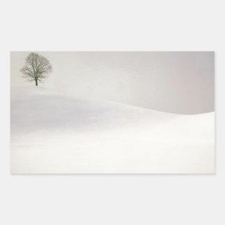 Winter Scene Peaceful Season Switzerland Rectangular Sticker