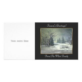 Winter Scene Photo Card Template