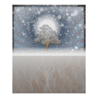 winter scene print