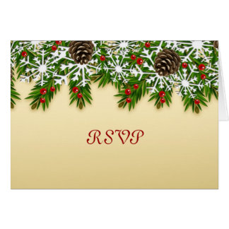 Winter Scene RSVP Card