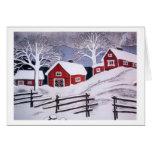 Winter Scene - Rural Greeting Card