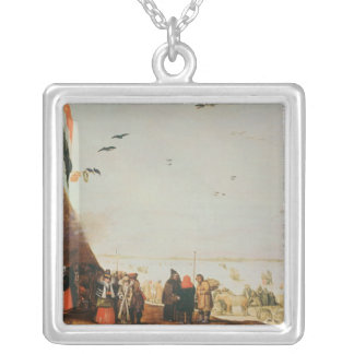 Winter Scene Silver Plated Necklace