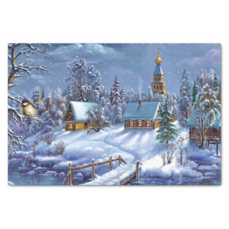 Winter Scene Tissue Paper