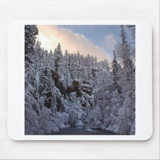 Winter Scene Total Whiteout Mousepads