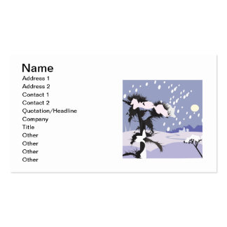 Winter Scenery Pack Of Standard Business Cards