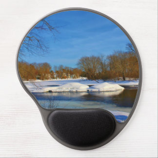 Winter Scenery - Webster Park Gel Mouse Pad