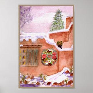 Winter Season Adobe Art Poster