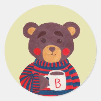 Winter Season is Coming (Bear Edition) Round Sticker