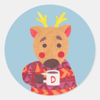 Winter Season is Coming (Deer Edition) Round Sticker