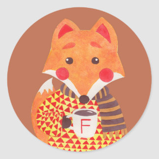 Winter Season is Coming (Fox Edition) Classic Round Sticker