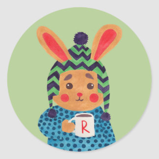 Winter Season is Coming (Rabbit Edition) Round Sticker