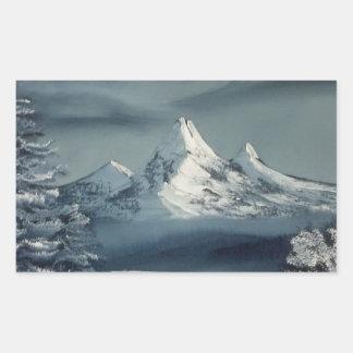 Winter Season Rectangular Sticker