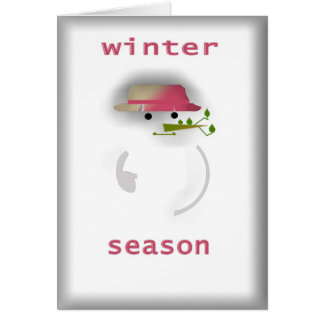 Winter Season Snowman Card