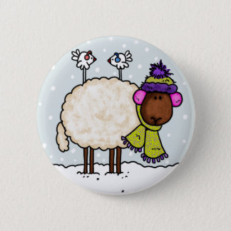 winter sheep button
