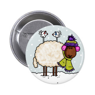 winter sheep button