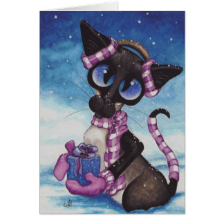 Winter Siamese Card