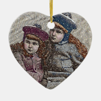Winter Sisters Christmas Ornament
