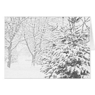 Winter Sketch III Notecard Note Card