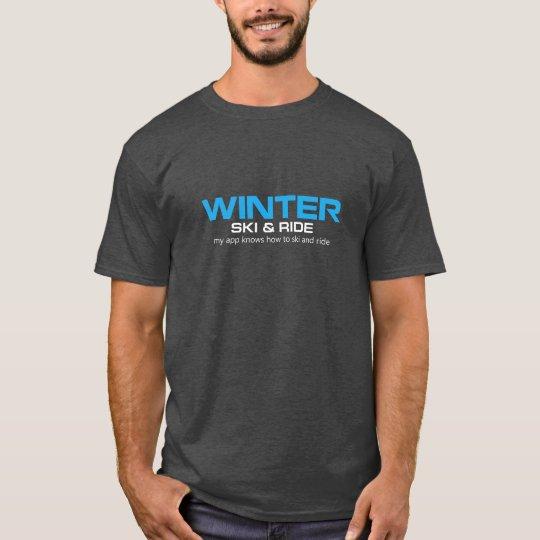 WINTER Ski & Ride Charcoal T-Shirt