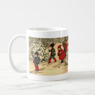 Winter Skiing Coffee Mug